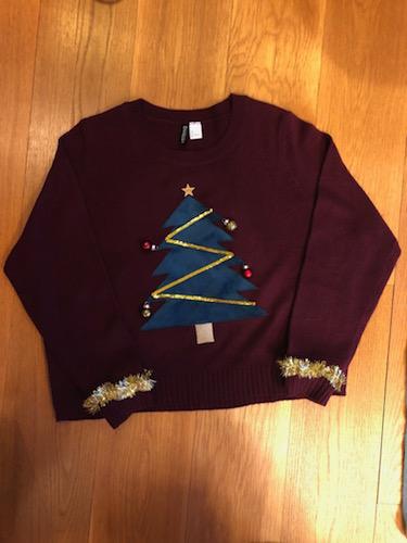 Julesweater med juletræ