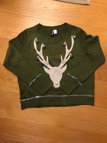 Julesweater med rensdyr