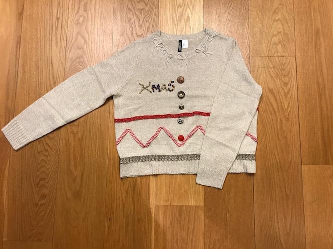 Julesweater med pynt