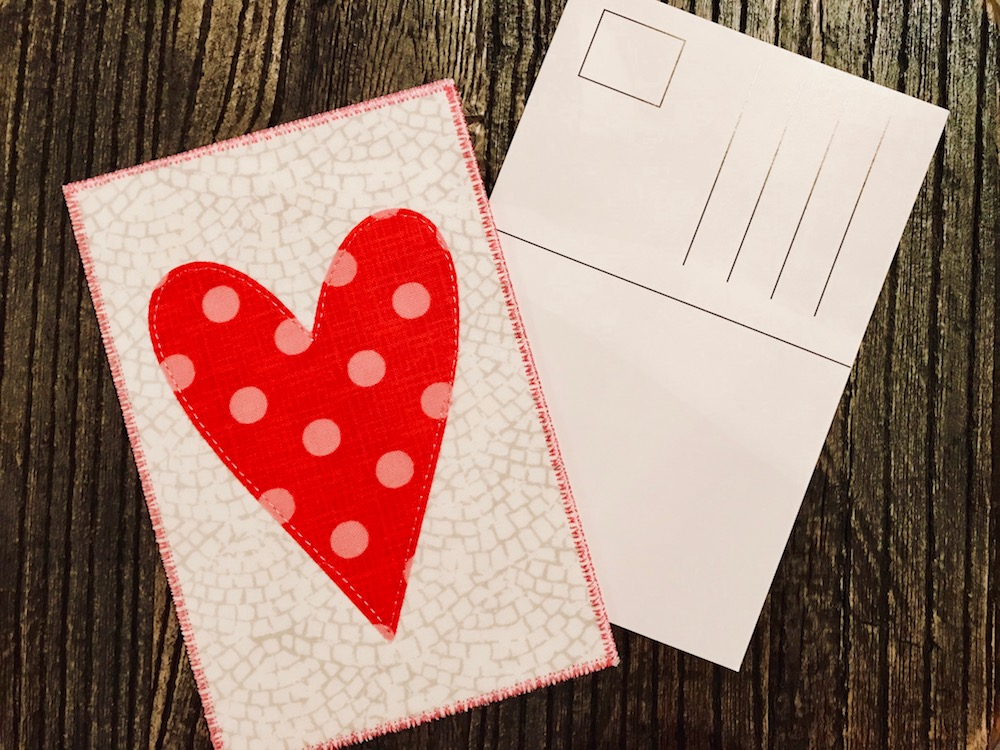 Sy et postkort til valentinsdag