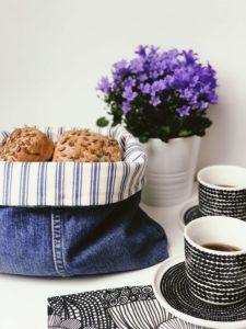 Redesign - fra jeans til brødkurv